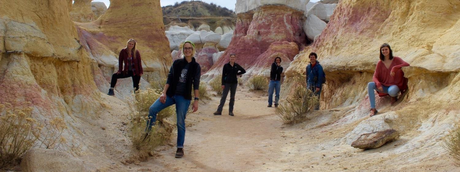 Undergraduate Research Seminar Trip to the Paint Mines