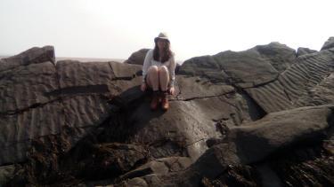 Barra on sedimentary ripples outcrop