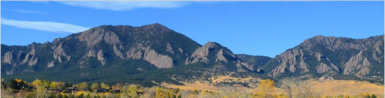 Mountain views in Boulder Colorado