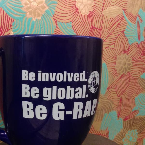 photo of our G-RAP Branded mug.
