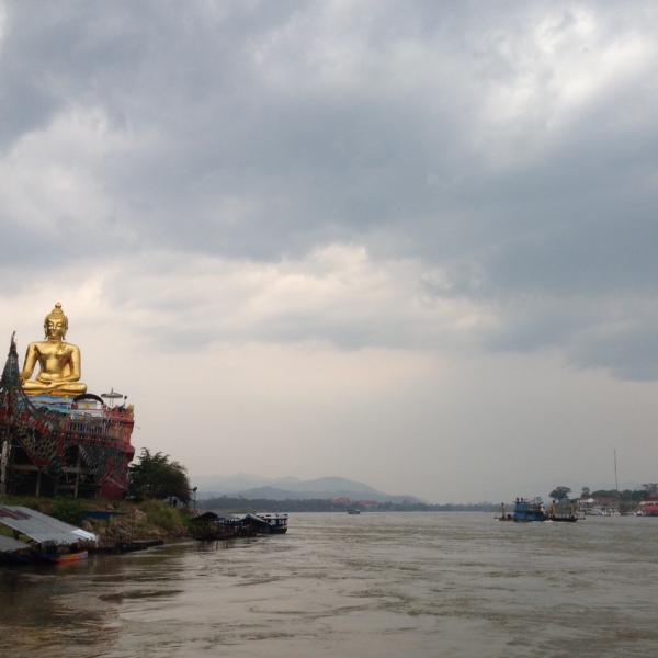 On the river between Loas, Thailand and Burma. Known as the Golden Triangle