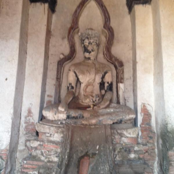 Ancient Statue of Buddha dated in the 1300's destroyed in the 1700's