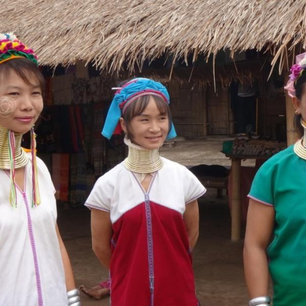 traditional elongated necks of tribal people