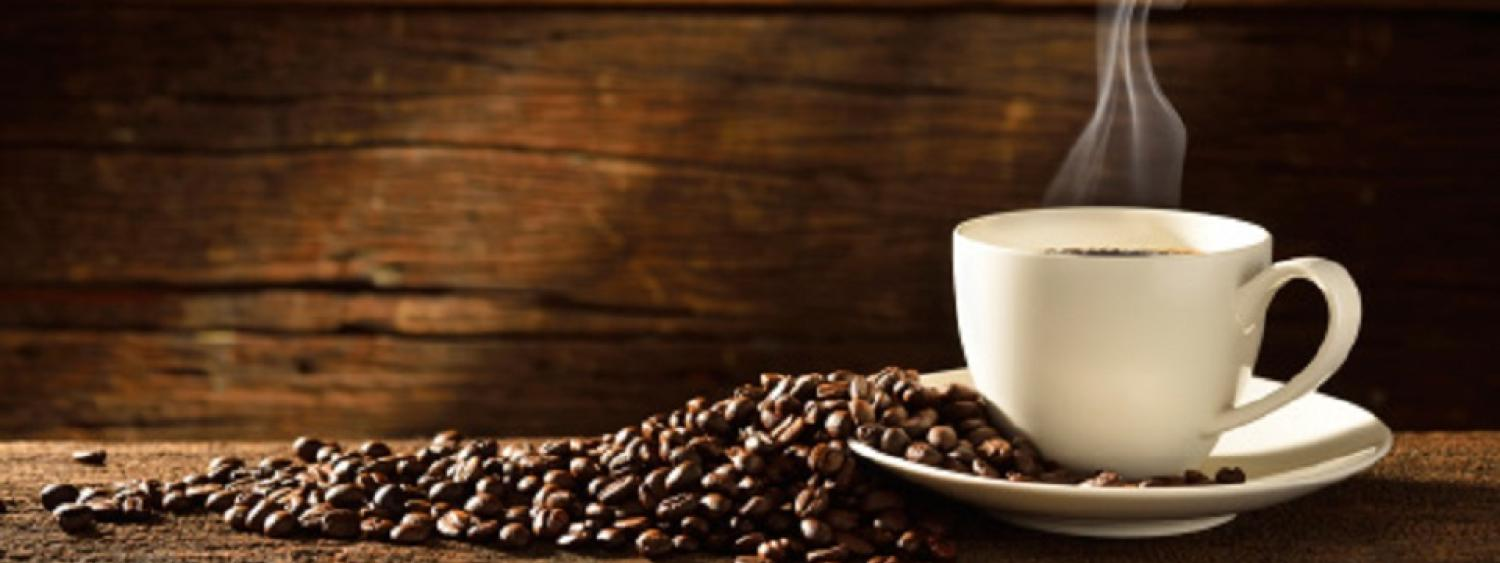photo of steaming coffee