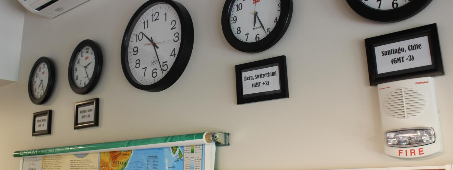 photo of our clocks in N200