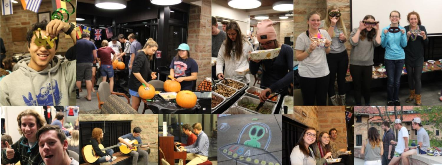 Collage of photos of Students and events