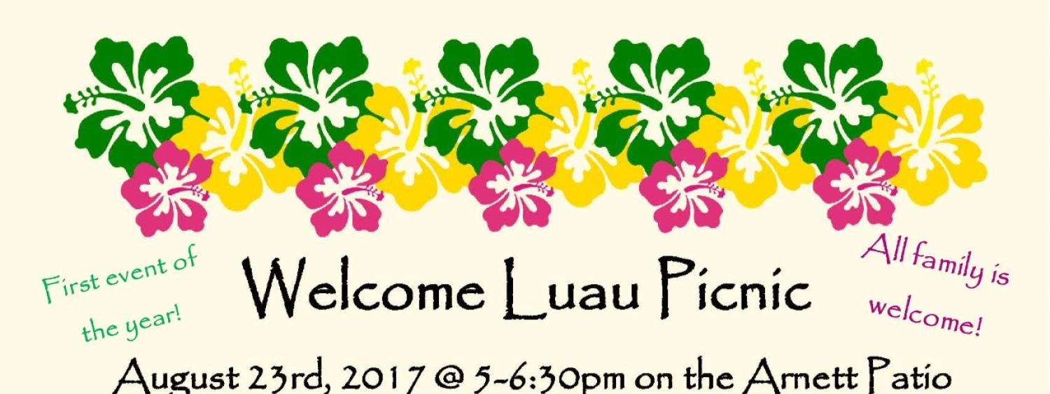 Welcome Luau for new students and their families