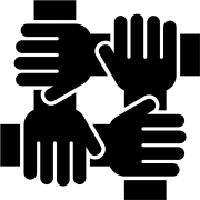 icon of four hands in a circle