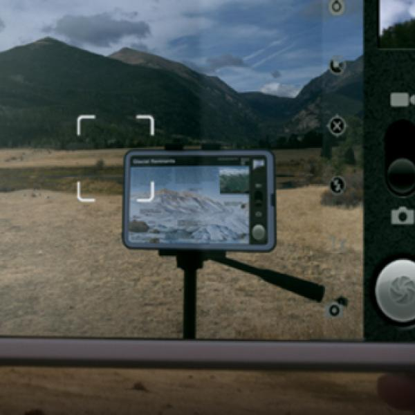 Using a phone and a tablet to shoot video