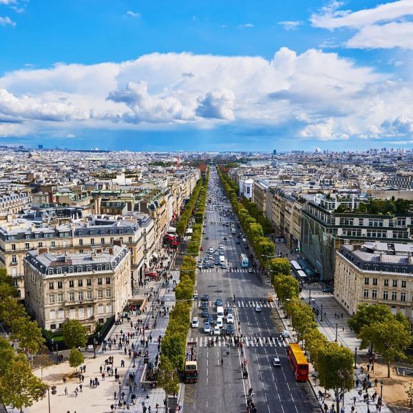 Aerial of Paris