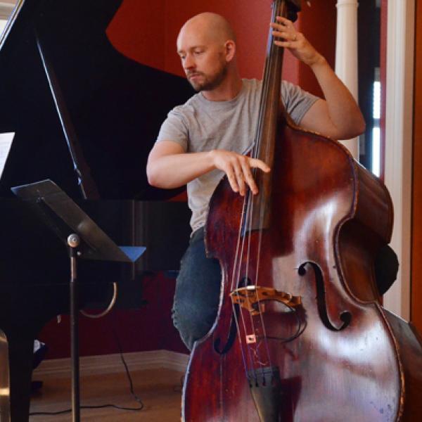 Man playing the upright bass