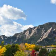 Boulder flatirons fall photo