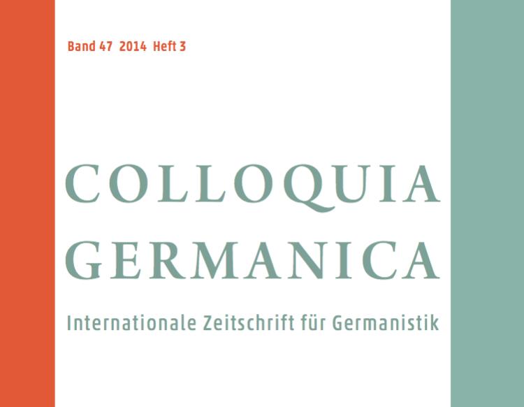 colloquia Germanica cover