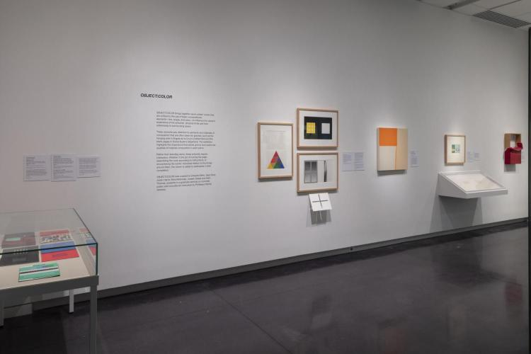 works displayed at exhibition in CU Art Gallery