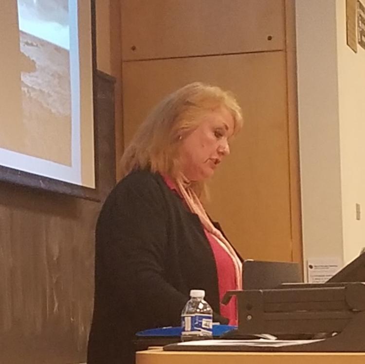 Ann-Kristin Wallengren guest lecturing on Ingmar Bergman