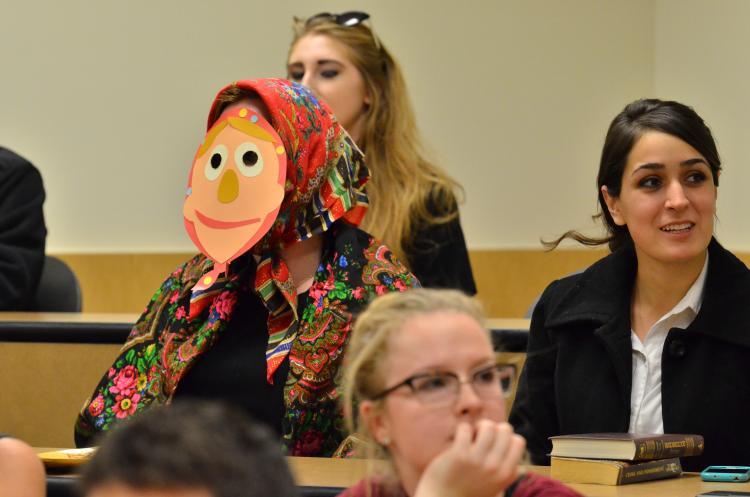 Russian German humor meeting