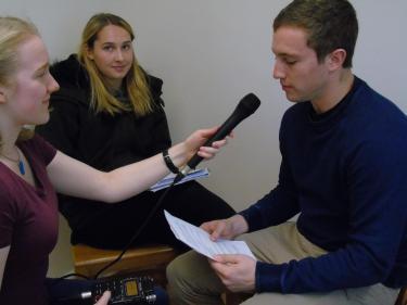 German radio interviews