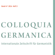 colloquia Germanica cover