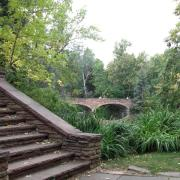 McKenna stairs and Varsity Pond on CU Boulder campus