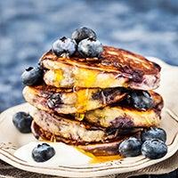 Bluberry oatmeal pancakes