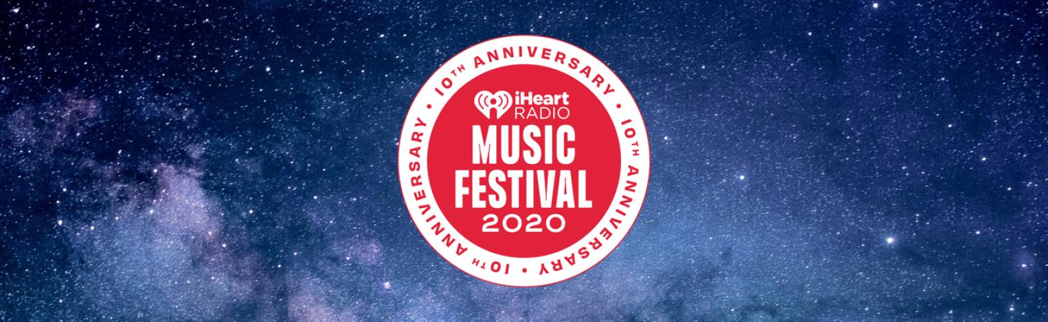 iheartradio music festival logo on top of space background.