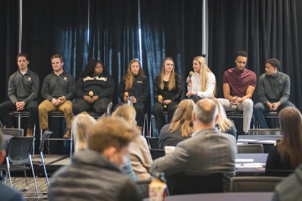 Student panel at inclusive sports summit