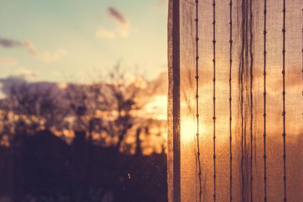 Sun through curtains