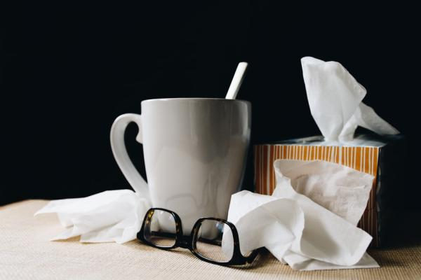 Tissues on a table
