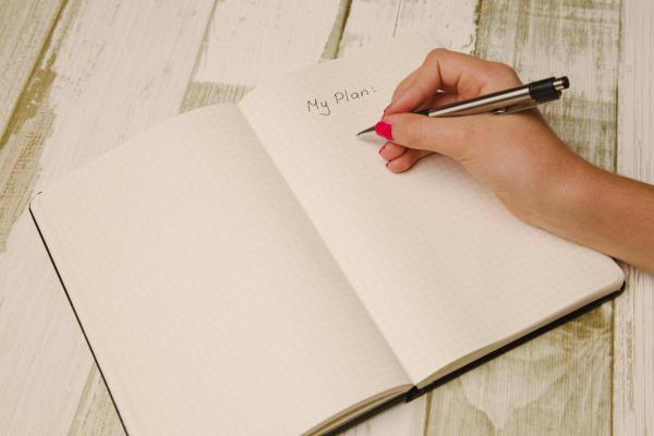 writing plan on paper
