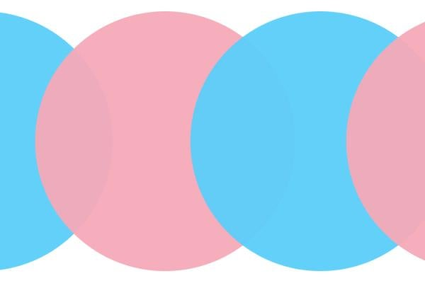 blue and pink circles overlapping
