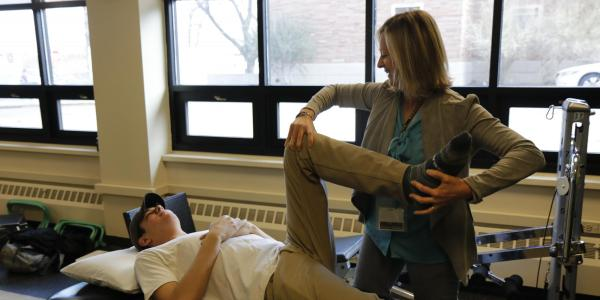 Person receiving physical therapy