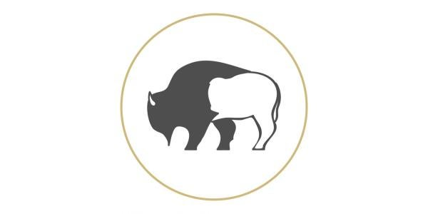Graphic of a buffalo in a circle