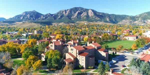 aerial photo of cu campus