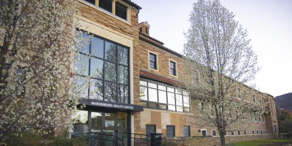 the entrance of wardenburg health center