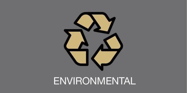 "recycling symbol and word ""environmental"