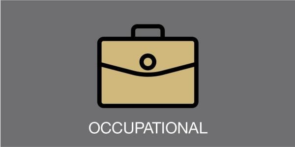 """briefcase and the word """"occupational"""""""