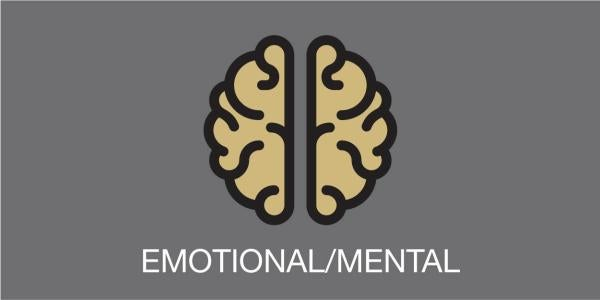 "cartoon brain with words ""emotional or mental"""