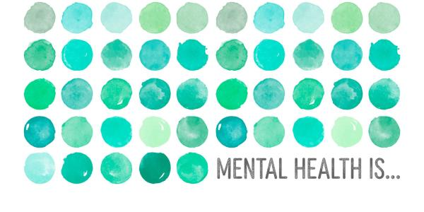 mental health is with turquoise dots