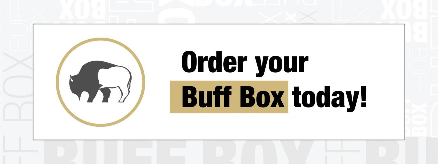 Text that says Order your Buff Box Today!