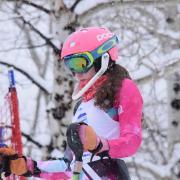 Darby Hartman at a slalom race in Powderhorn, CO