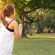 Student jogging
