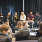Student panel at the inclusive sports summit