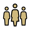 silhouette of three people