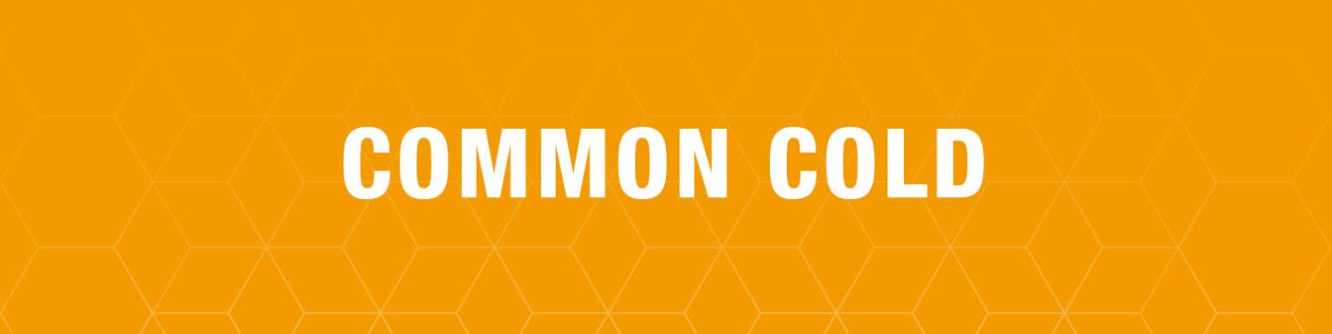 Text saying Common Cold laid over a textured background