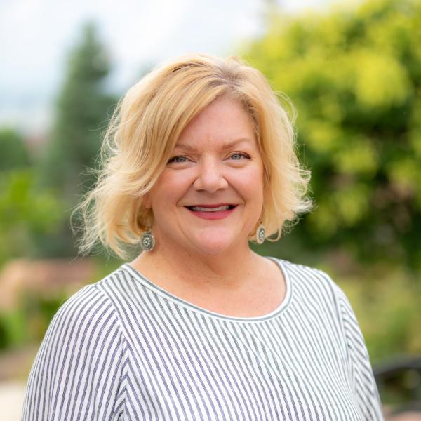 smiling blonde woman: stephanie clark