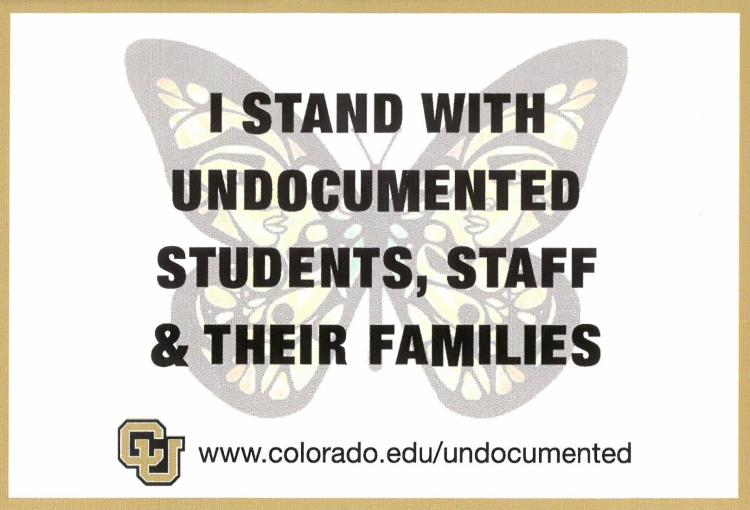 I Stand With Undocumented Students, Staff & Their Families