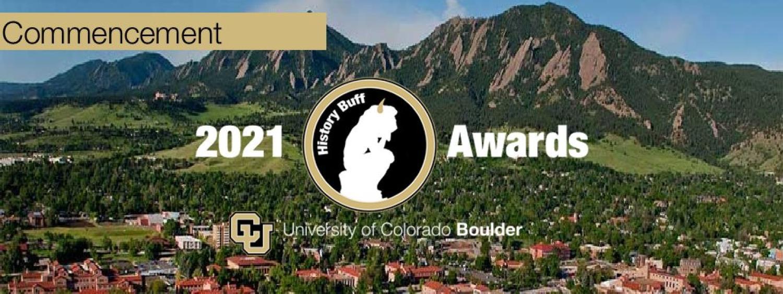 CU Boulder 2021 History Commencement Awards