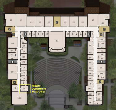 Map of Second Floor of Hellems