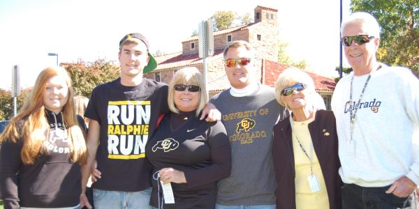 CU Boulder alumni celebrate homecoming.