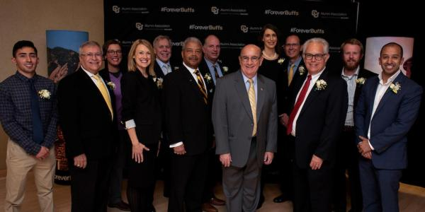 Our 2018 Alumni Award winners and Chancellor DiStefano.